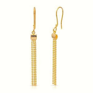 Gold Plated Sterling Silver Earrings With Dangling Tassles