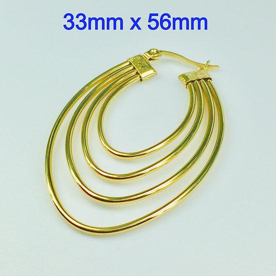 Stainless Steel Golden wire Lever Back Earrings