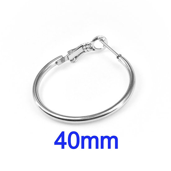 40mm Hoops with Stainless steel Earring hooks