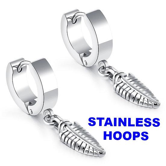 316 Stainless Steel Gold color 15mm HuggieHoopEarrings