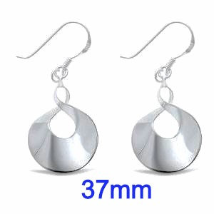 Sterling Silver Modern Design Earrings