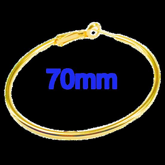 70mm Golden Hoops with Stainless steel Earring hooks