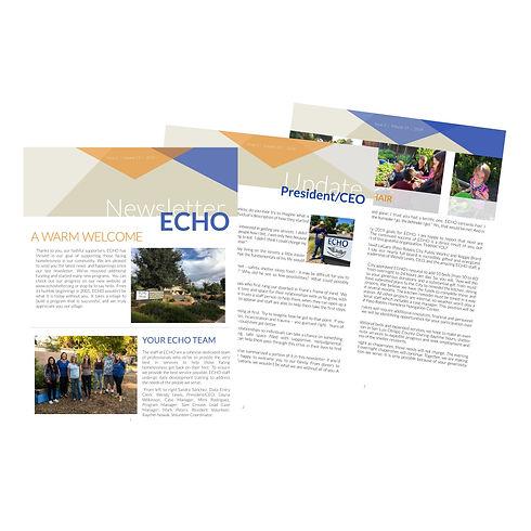 ECHO Fall 2019 Newsletter Promo Website.