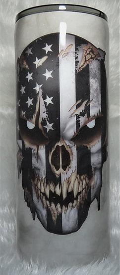 30 oz. Patriotic Skull w/Reflective Eyes Tumbler