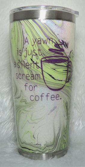 A Scream for Coffee, 24 oz. Hydro Dip Tumbler