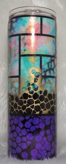 20 oz. Tiger Lily with Snakeskin Effect Tumbler