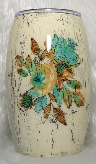 15 oz. Crackle Effect Floral Tumbler