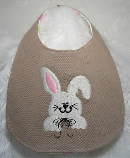 Bib with Embroidered Design