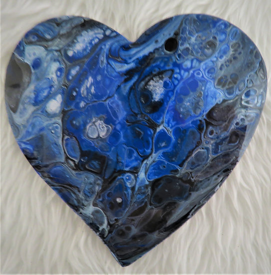 Heart Shaped Acrylic Pour Coaster