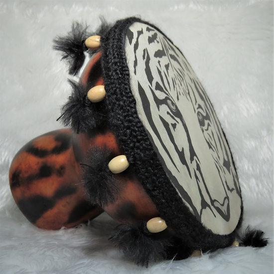 Gourd Drum w/Hand Drawn Tiger