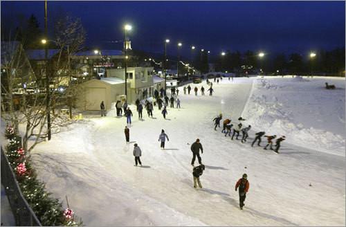 skating in the Adirondacks