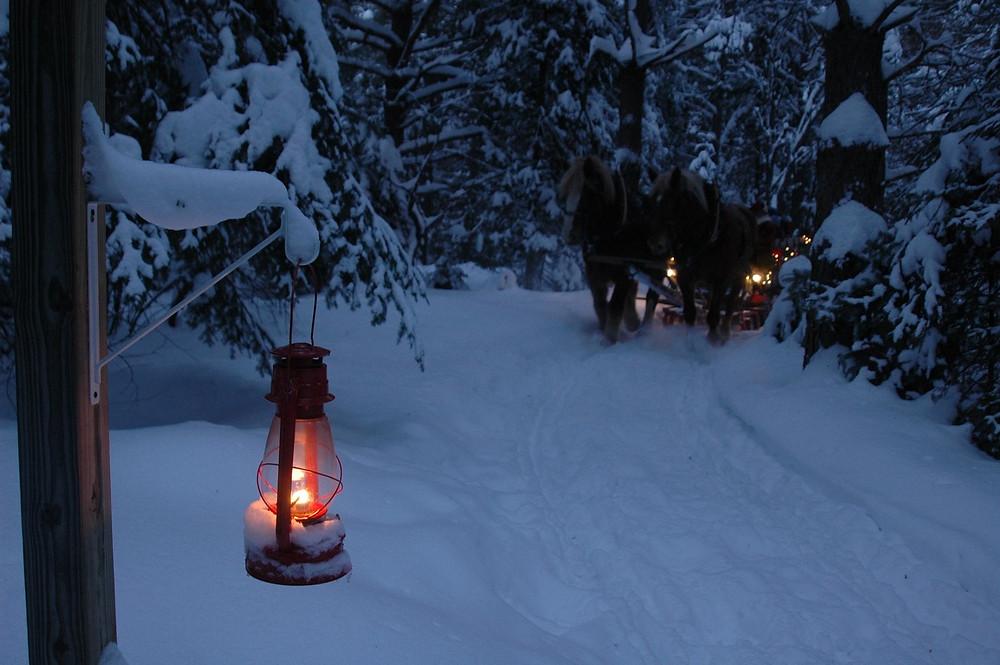 sleigh rides at my Lake Clear Lodge