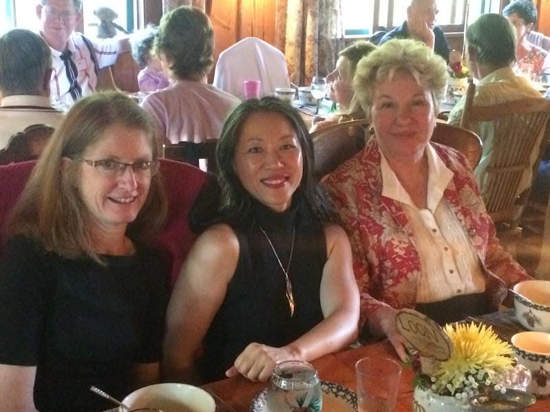 Kathy Kramer, Dr Karen Kan, Sally Fallon-Morell