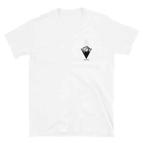 Mountains Diamond Pattern Unisex T-Shirt - Chest Print