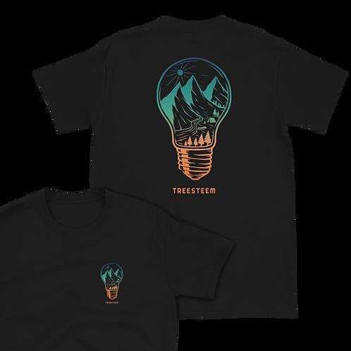 Landscape Light Bulb Unisex T-Shirt - Back Print
