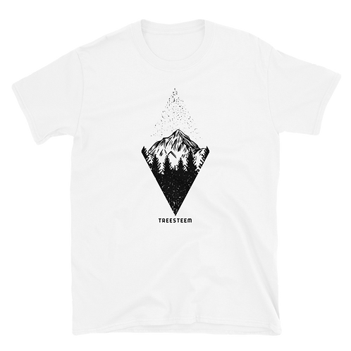 Mountains Diamond Pattern Unisex T-Shirt - Front Print