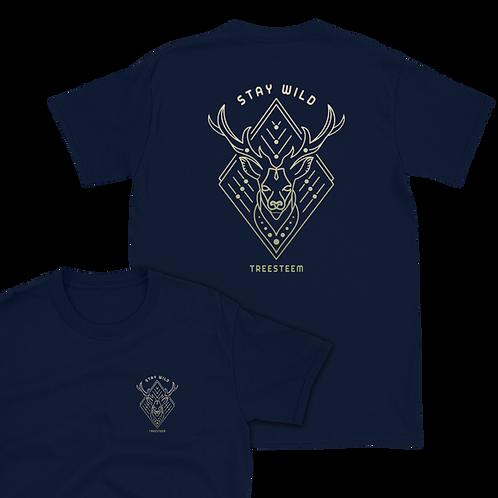 Stay Wild Deer Unisex T-Shirt - Back Print