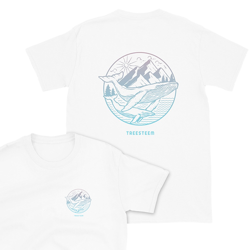 Whales & Mountains Unisex T-Shirt - Back Print