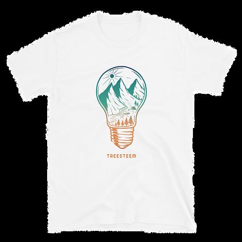 Landscape Light Bulb Unisex T-Shirt - Front Print