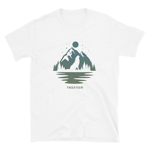 Wolf & Mountains Unisex T-Shirt - Front Print