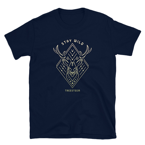 Stay Wild Deer Unisex T-Shirt - Front Print