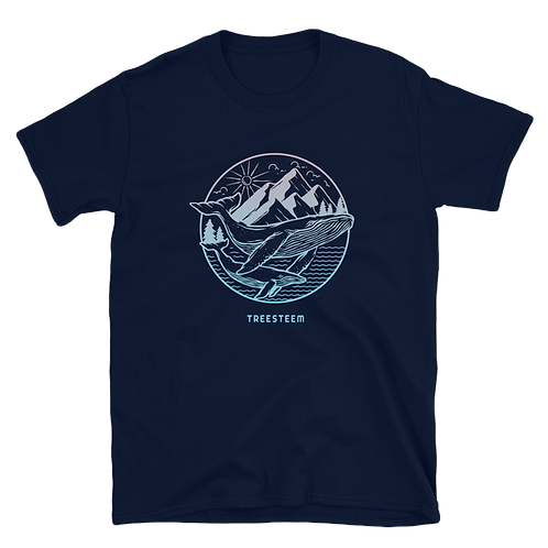 Whale & Mountains Unisex T-Shirt - Front Print