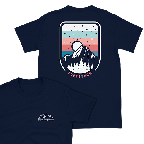 Mountains & Stars Unisex T-Shirt - Back Print
