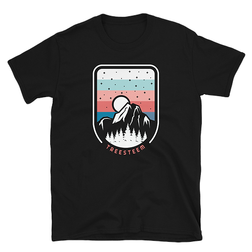 Mountains & Stars Unisex T-Shirt - Front Print