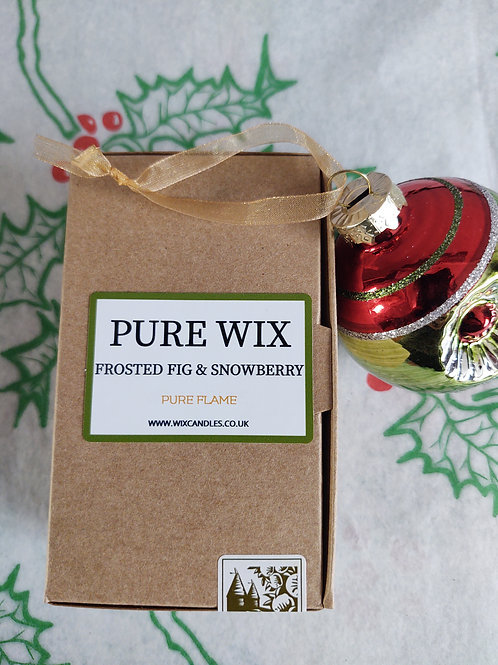 Frosted Fig & Snowberry Wax Melts 8 Pack With 4 Tea Lights