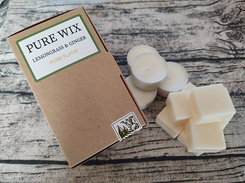 Lemongrass And Ginger Wax Melts 8 Pack With 4 Tea Lights