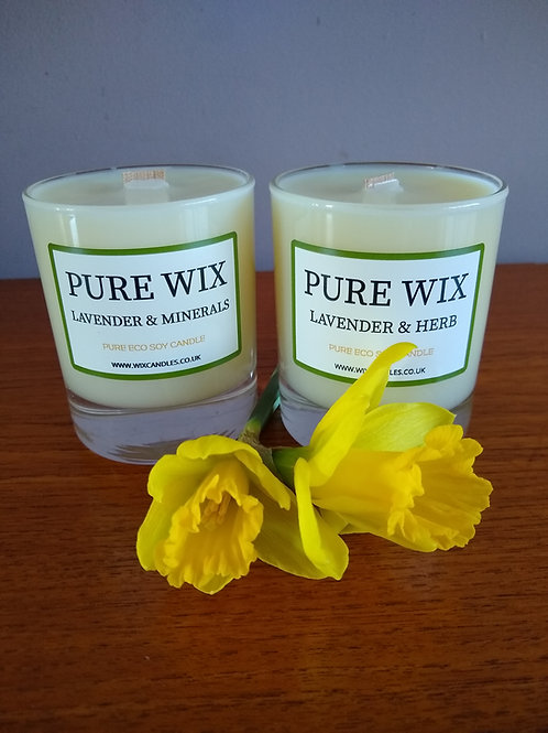 Lavender and Minerals Maple Wick Luxury Candle
