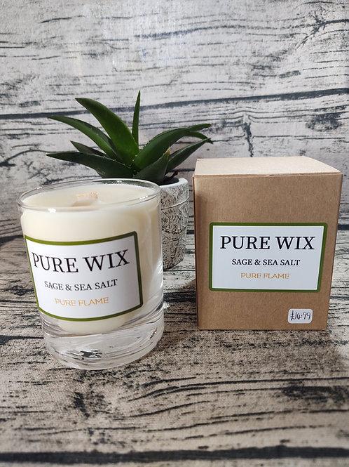 Sage And Sea Salt Maple Wick Luxury Candle