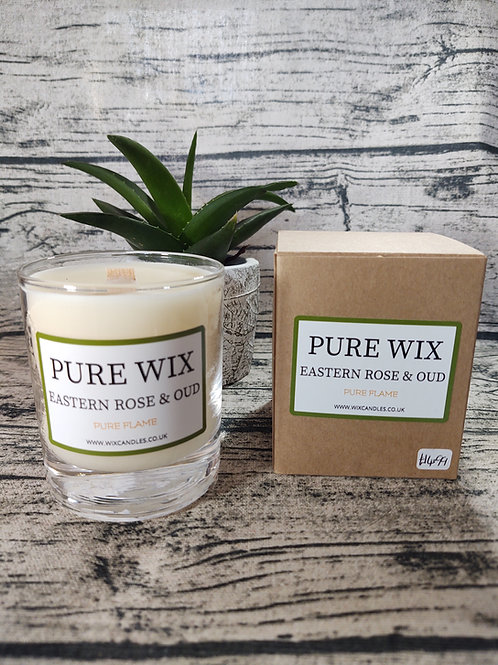 Eastern Rose and Oud Maple Wick Luxury Candle