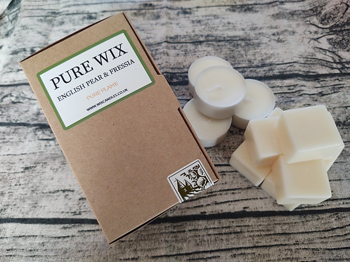 English Pear And Freesia Wax Melts 8 Pack With 4 Tea Lights