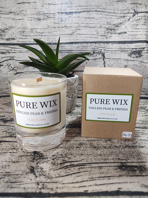 English Pear And Fressia Maple Wick Luxury Candle