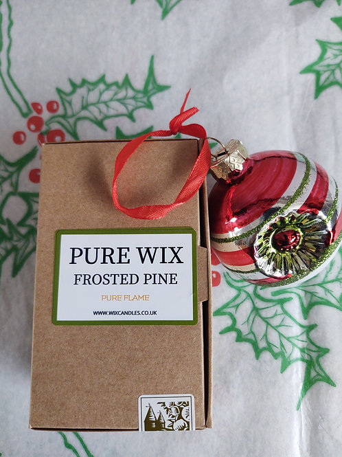 Frosted Pine Wax Melts 8 Pack With 4 Tea Lights
