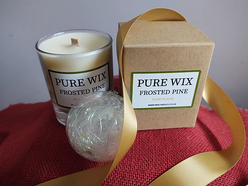 Frosted Pine Maple Wick Luxury Candle