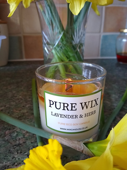 Lavender and Herb Maple Wick Luxury Candle
