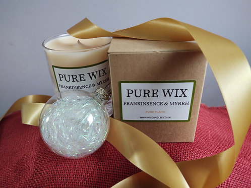 Frankincense & Myrrh Maple Wick Luxury Candle