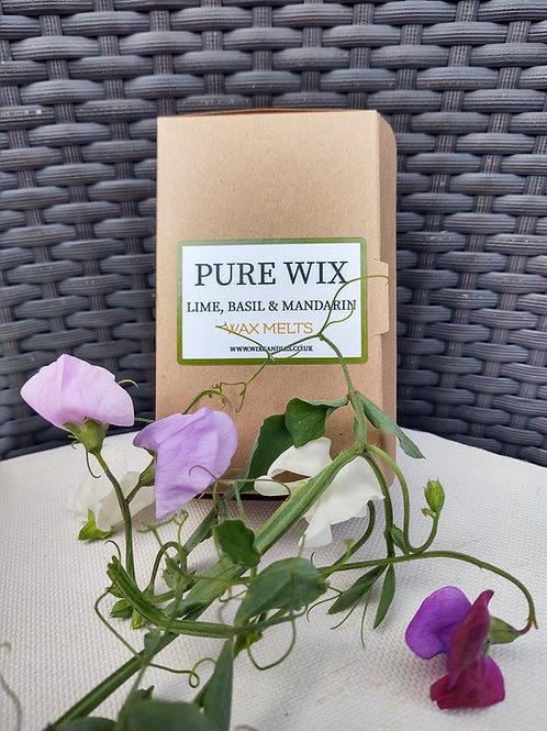 Lime, Basil & Mandarin Wax Melts 8 Pack With 4 Tea Lights
