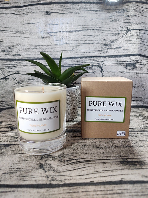 Honeysuckle and Elderflower Maple Wick Luxury Candle