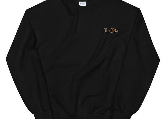 La Jefa Sweatshirt - Gold Embroidery