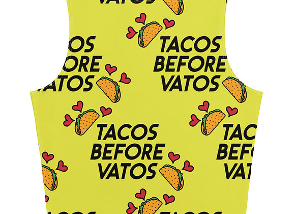 Tacos Before Vatos Crop Top