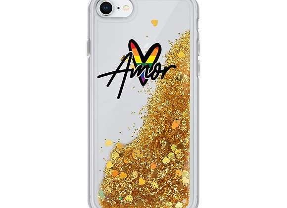 Pride Amor Glitter iPhone Case