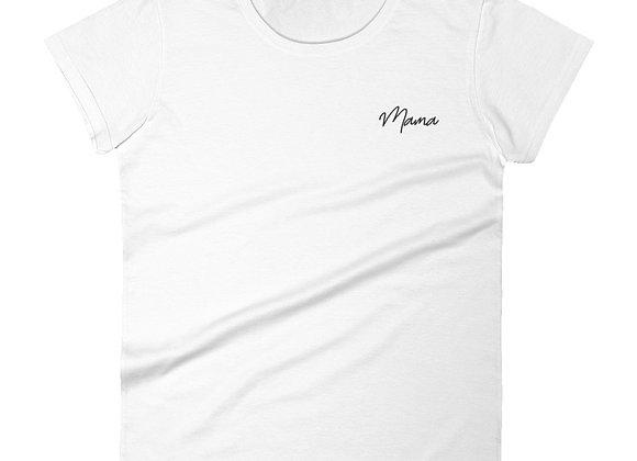 Mama - Black Embroidery