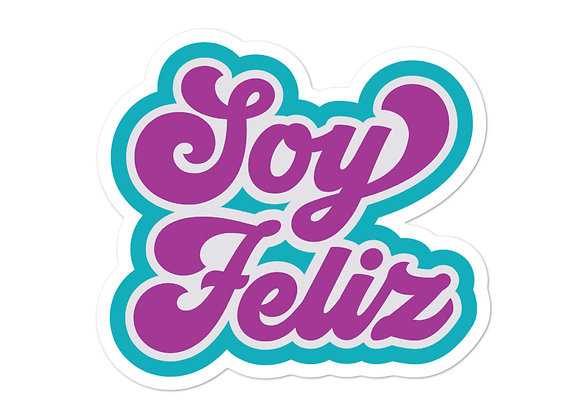 Soy Feliz Bubble-Free Stickers