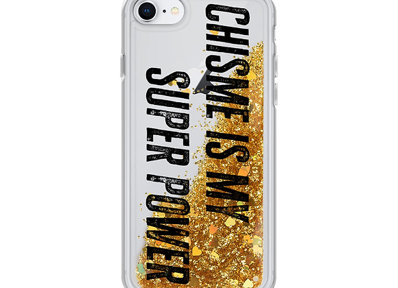 Chisme is my Super Power Glitter iPhone Case