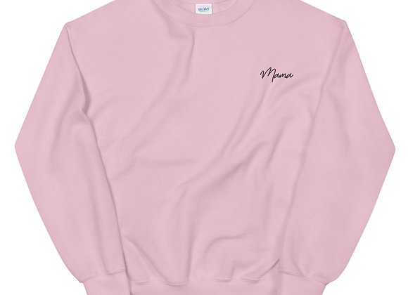 Mama Sweatshirt - Black Embroidery