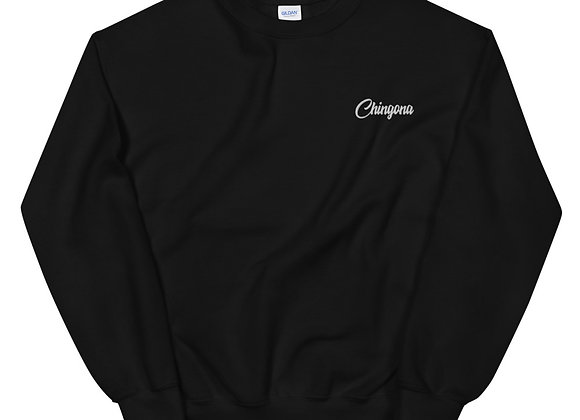 Chingona Sweatshirt - White Embroidery