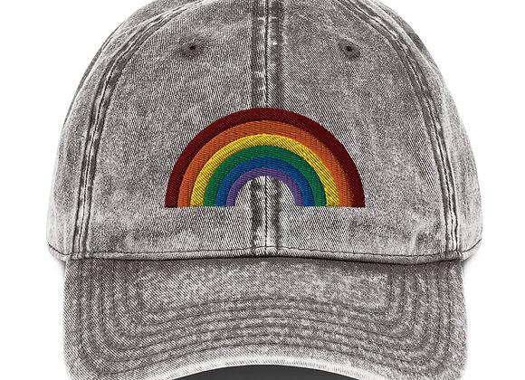Pride Rainbow Vintage Hat